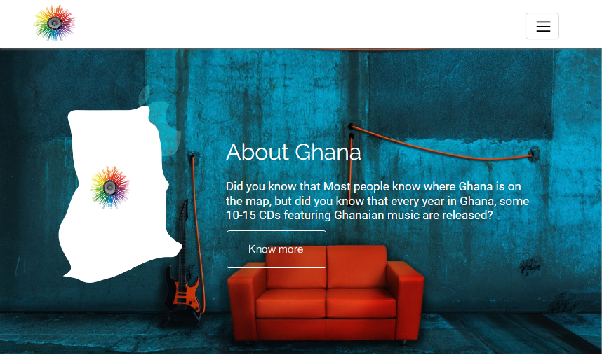 Tunes From Ghana WYSIWYG Web Builder Free Template